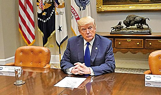 美國總統特朗普昨日回應北韓挑釁,強調會嚴肅處理北韓問題。 (Getty Images)