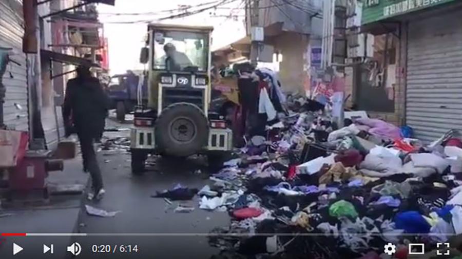 中共當局沒有說最近幾天有多少民工被驅逐,但這次行動和拆遷的範圍可能會影響到數萬人。(視像擷圖)