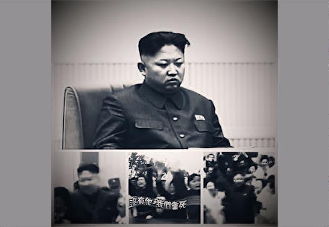 北韓推出新歌曲《沒有他會死》來讚頌北韓領導人金正恩。(合成圖片)