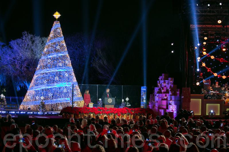 國家聖誕樹點燈慶典。(李莎/大紀元)