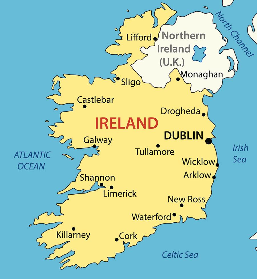 由於歷史原因,北愛爾蘭雖然和愛爾蘭共和國同在愛爾蘭島上,主權確屬於英國。(iStock.com/pavalena)
