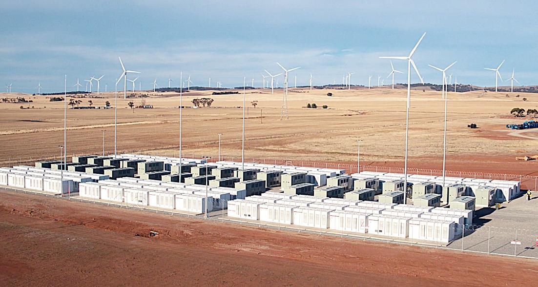 建成後的南澳鋰電池陣。(南澳州長辦公室提供)