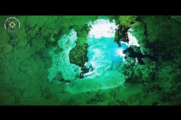墨西哥尤加敦半島的Ox Bel Ha溶洞(Vimeo視頻截圖)