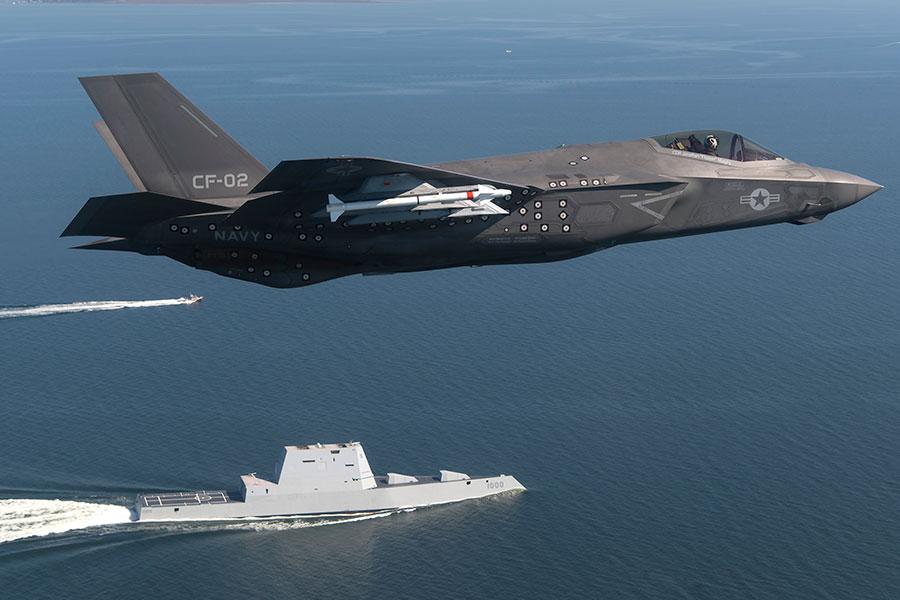 圖為美軍F-35閃電II第五代隱身多用途戰鬥機。(U.S. Navy photo by Andy Wolfe/Released)
