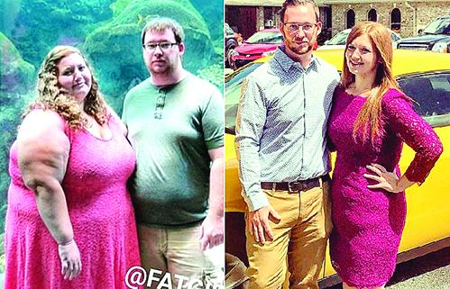攜手完成艱鉅的減肥之旅,減掉300磅的Reed和Lexi不但形像煥然一新,他們的健康和彼此關係也大為改善。(Instagram:  fatgirlfedup/大紀元合成)