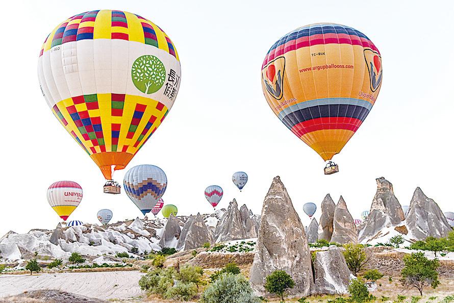 土耳其的熱氣球。