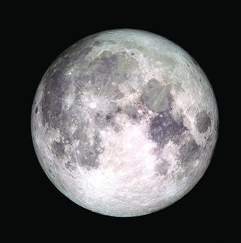 2017年唯一一次滿月時的超級月亮,於12月3日現身。(NASA)