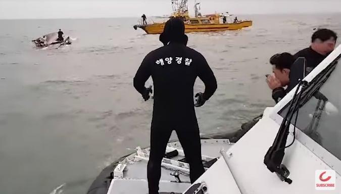 韓釣魚船撞油輪 13死2失蹤