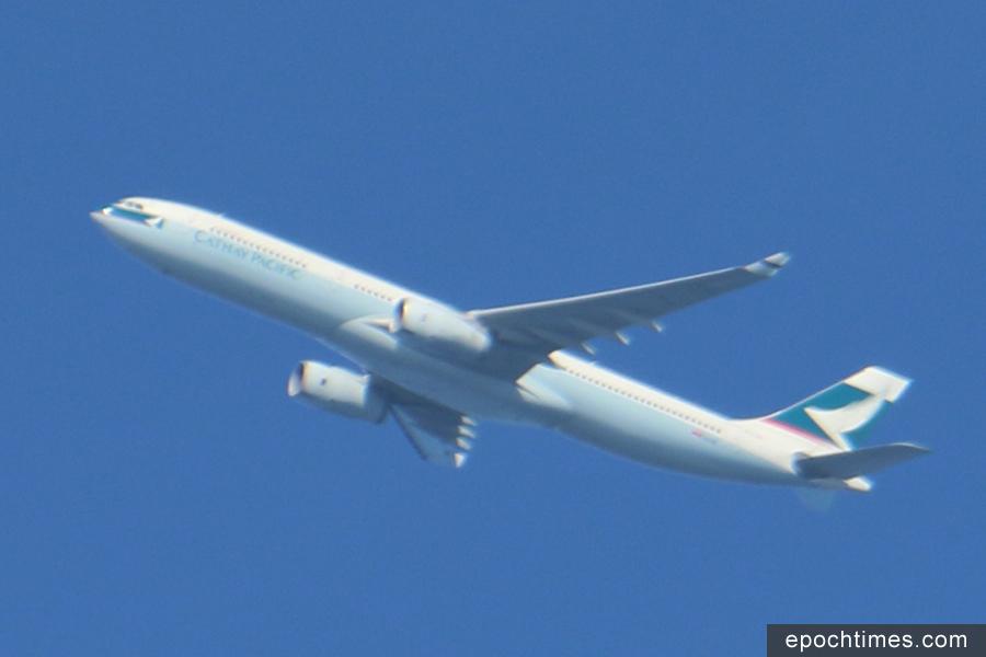 國泰航空公司的機組人員稱,其在飛行途中目睹疑似北韓於11月29日發射的導彈。圖為國泰航班示意圖。(大紀元資料圖片)