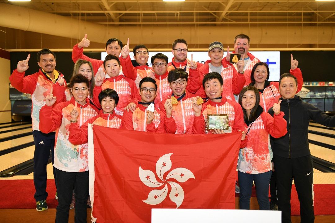 香港保齡球代表隊在世界保齡球錦標賽2017,暫時已奪得一金一銀一銅。(香港保齡球協會提供)