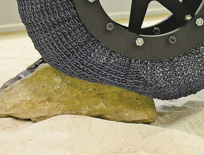 NASA新記憶合金輪胎 用於未來火星探測