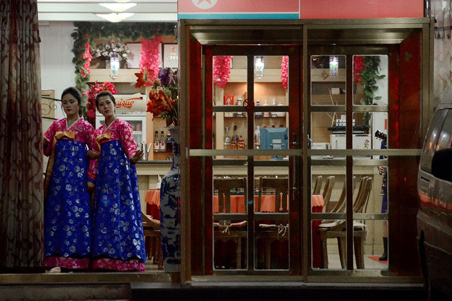 11月起,遼寧省丹東市由北韓人開辦的餐廳出現關閉潮。(WANG ZHAO/AFP/Getty Images)