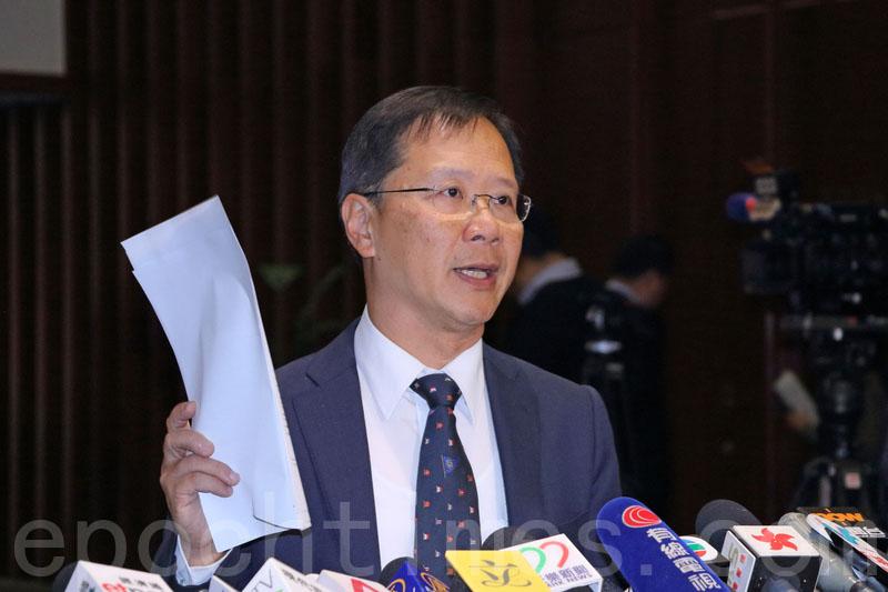 郭家麒批評港府拒絕台灣的平民入境,破壞一國兩制,打擊香港對外形象,憂慮香港已成大陸城市。(蔡雯文/大紀元)