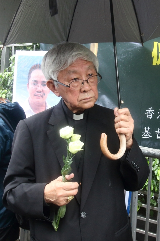 天主教香港教區榮休主教陳日君樞機希望,大陸停止打擊基督徒,並認真追究違反宗教自由的行為。(蔡雯文/大紀元)