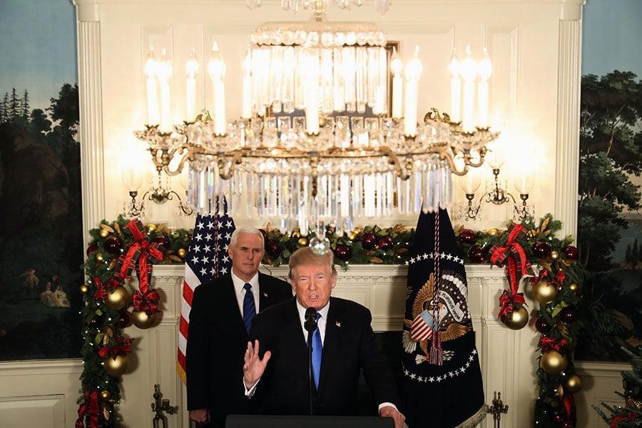 特朗普正式承認耶路撒冷為以色列首都