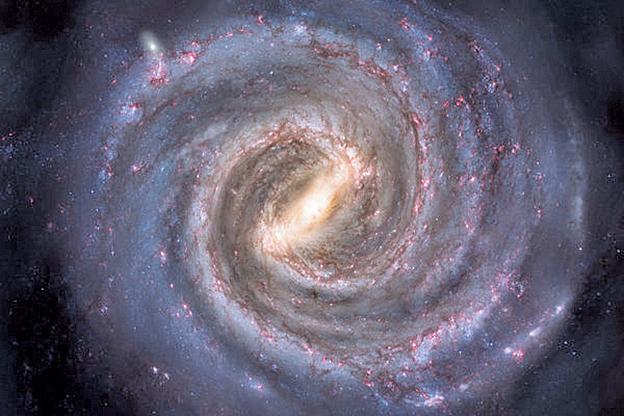 近日,研究人員發現,在銀河系中心的超級黑洞周圍出現極其年輕的新星體,原因不明。(網絡圖片)