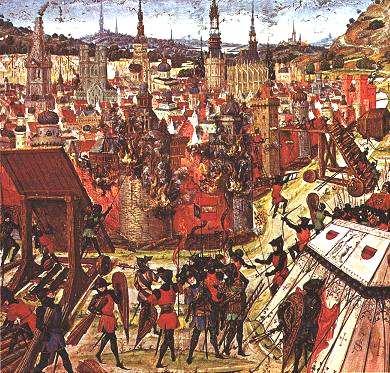 公元1099年,第一次十字軍東征時的耶路撒冷。(維基百科公有領域)