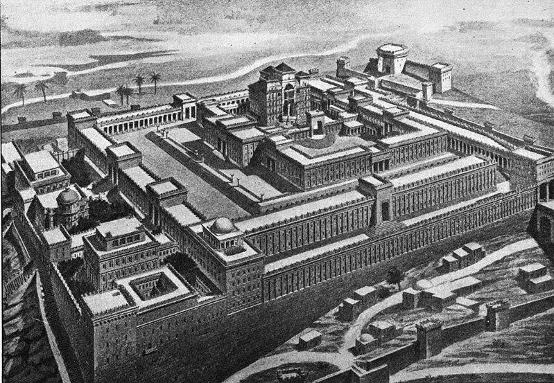 所羅門聖殿復原圖。(維基百科公有領域)