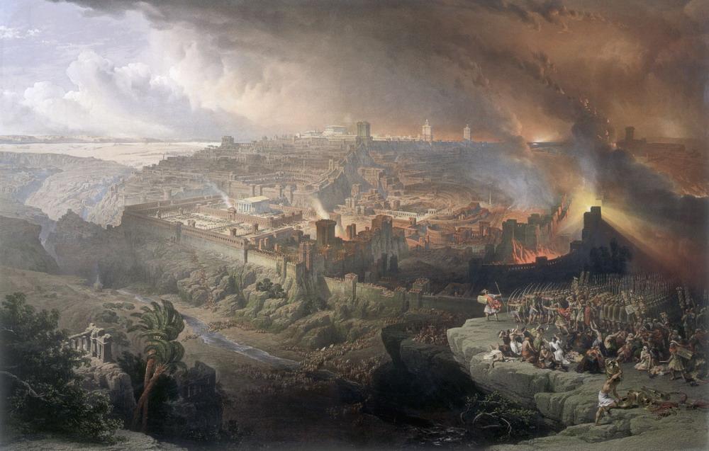 羅馬人圍困耶路撒冷。(維基百科公有領域)