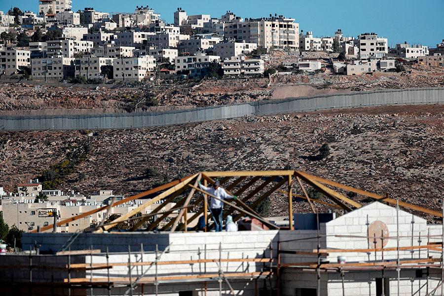 耶路撒冷以色列和巴勒斯坦分割區。(THOMAS COEX/AFP/Getty Images)