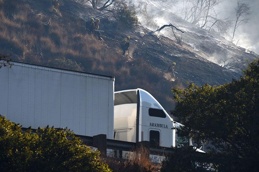 405州際公路部份路段被關閉。(ROBYN BECK/AFP/Getty Images)