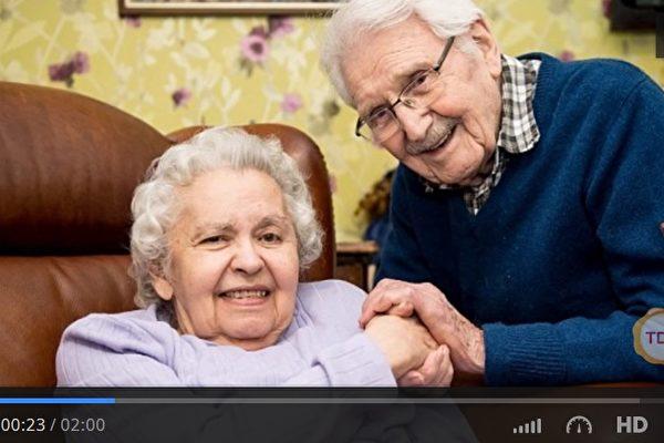英國男子麥凱(John Mackay)在二戰期間救了匈牙利猶太人斯坦納(Edith Steiner),兩人後來相戀結婚,並攜手度過超過70年的時間,直到斯坦納辭世。其至死不渝的愛情故事將永存人們心中。(視頻擷圖)