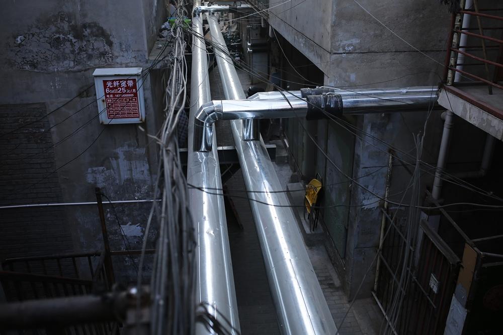北京煤改氣的管道。(大紀元資料室)