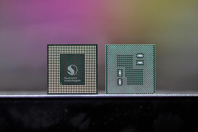 高通在2017年驍龍技術峰會上發佈了下一代驍龍845(Snapdragon 845)芯片。(Qualcomm)