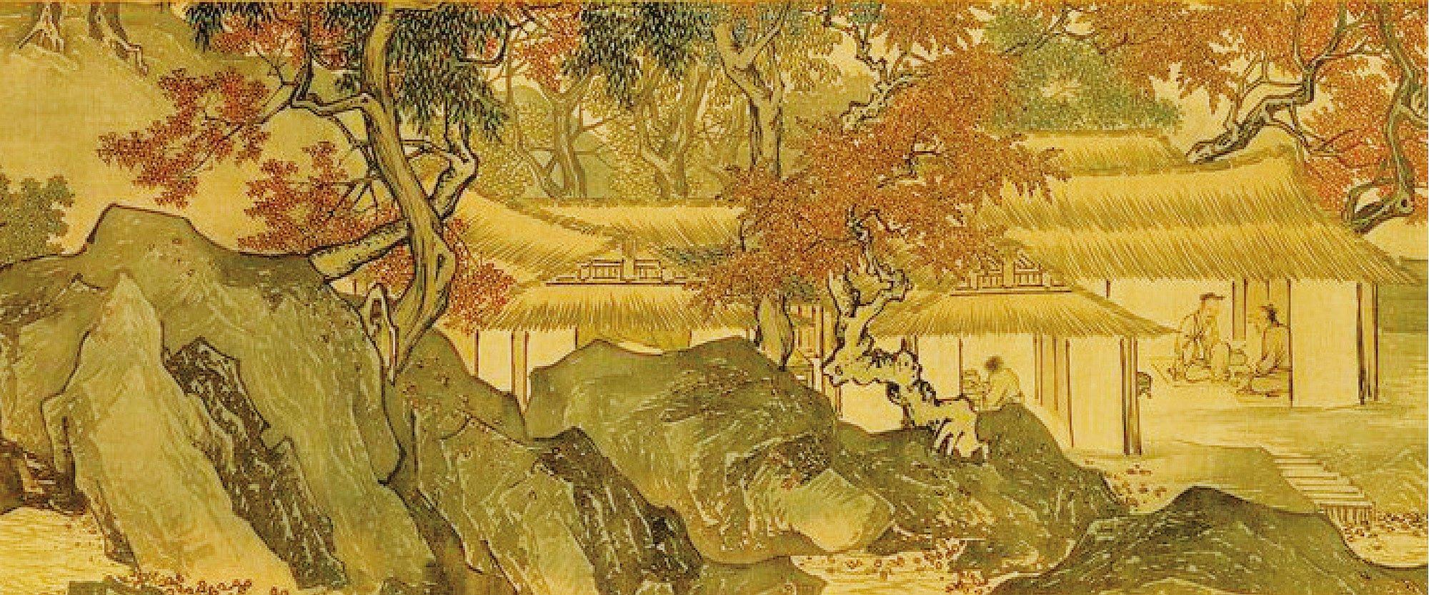【明】 唐寅《溪山漁隱圖》局部。(台北故宮博物院收藏)