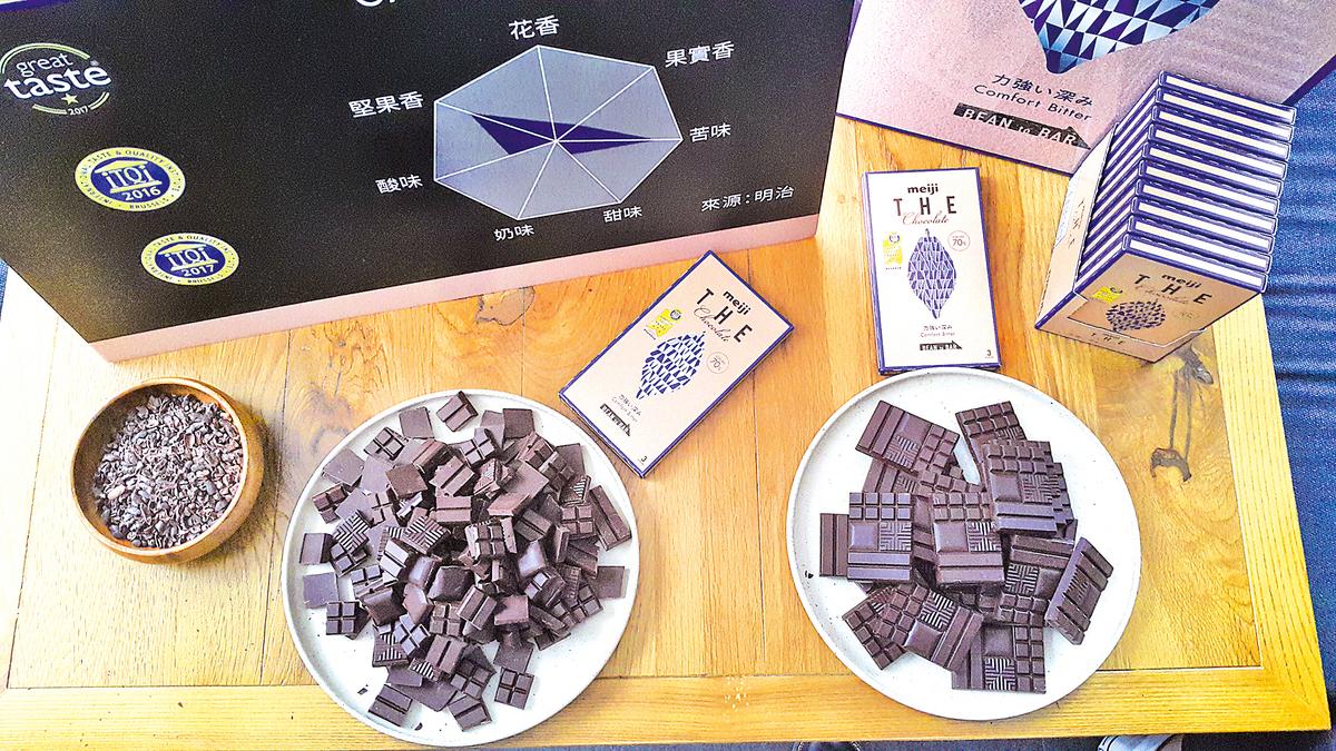 Comfort Bitter是「明治THE Chocolate」在日本最受歡迎的一款。也是得獎作品。(莫森/大紀元)