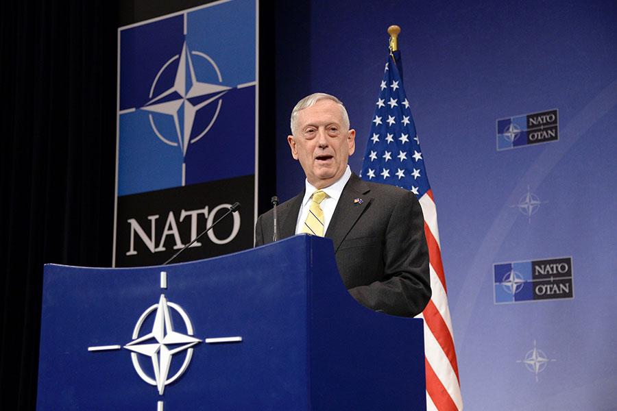 美國防長詹姆斯・馬蒂斯(James Mattis),特朗普稱他是「將軍中的將軍」。(THIERRY CHARLIER/AFP/Getty Images)