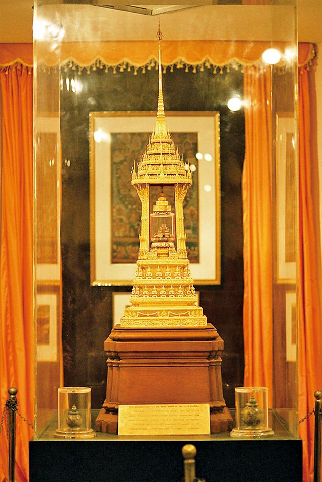 印度阿育王時期所造的舍利塔,現藏於印度新德里國家博物館。(Hideyuki KAMON / 維基百科)