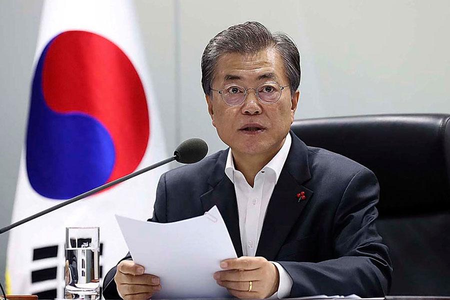 「薩德風波」後中韓關係回暖,南韓總統文在寅預定於12月13日訪華,並與習近平會面。(South Korean Presidential Blue House via Getty Images)