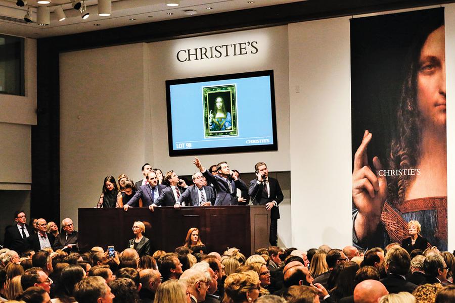達文西真蹟拍出4.5億美元 45英鎊藏畫成史上最貴藝術品