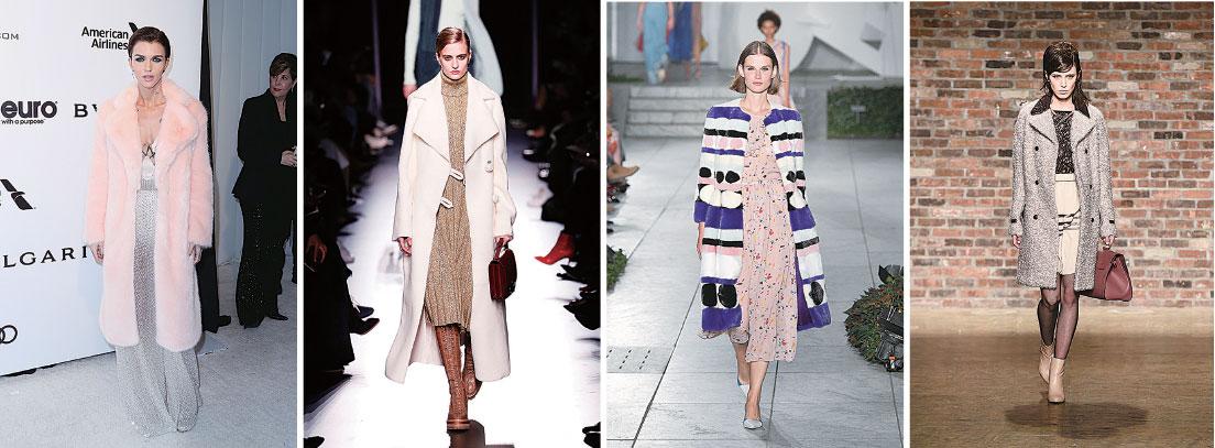 大褸配裙裝 時尚過冬天
