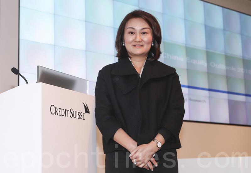 瑞信私人銀行大中華區主管謝琳,料明年中港股市仍有10%增長。(余鋼/大紀元)