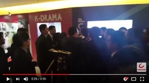 南韓記者跟隨文在寅總統 被中共警衛攻擊