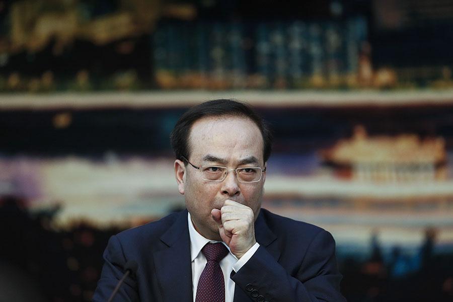 12月11日,中共前重慶市委書記孫政才以涉嫌「受賄罪」被宣佈立案偵查。(Lintao Zhang/Getty Images)