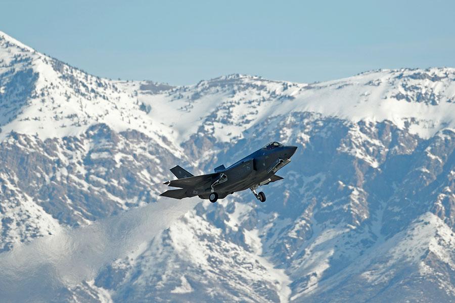 美空軍的F-35戰鬥機。(George Frey/Getty Images)