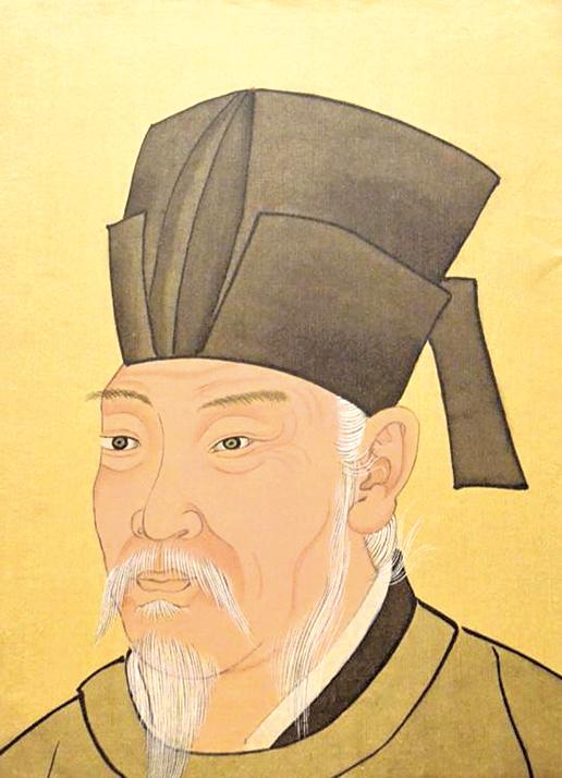 白居易畫像。清宮殿藏畫本。北京故宮博物館出版社1994。(公有領域)