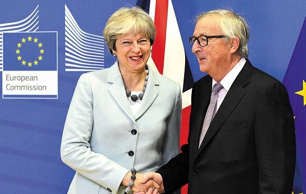 英國首相文翠珊經過不斷的努力,終於在12月8日與歐盟達成了協議。(EMMANUEL DUNAND/AFP/Getty Images)