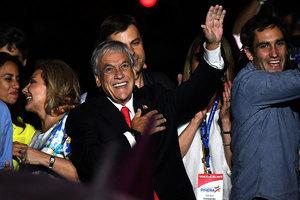 智利總統決選 億萬富豪皮涅拉再度當選