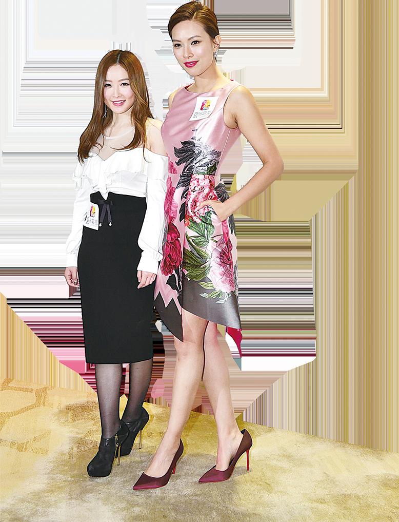 樂瞳和朱慧敏當《今晚見》主持,負責飲食、美容和健康主題。(郭威利/大紀元)