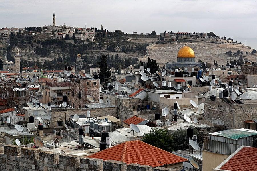 圖為以色列耶路撒冷舊城區一景,攝於2017年12月19日。(THOMAS COEX/AFP/Getty Images)