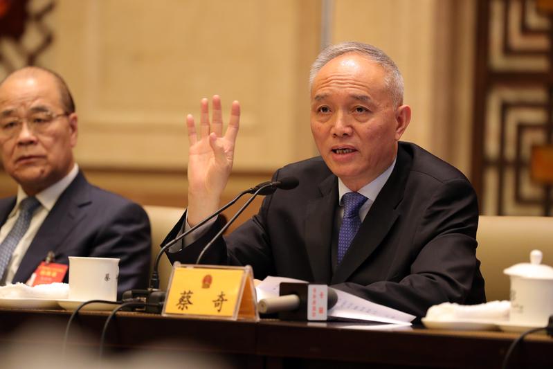 最新消息稱,習對北京書記蔡奇的表現不滿,會將其調任它職。(大紀元資料室)