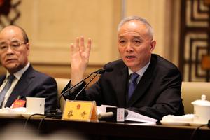 兩會北京代表團開放日 蔡奇為何倉促離開?