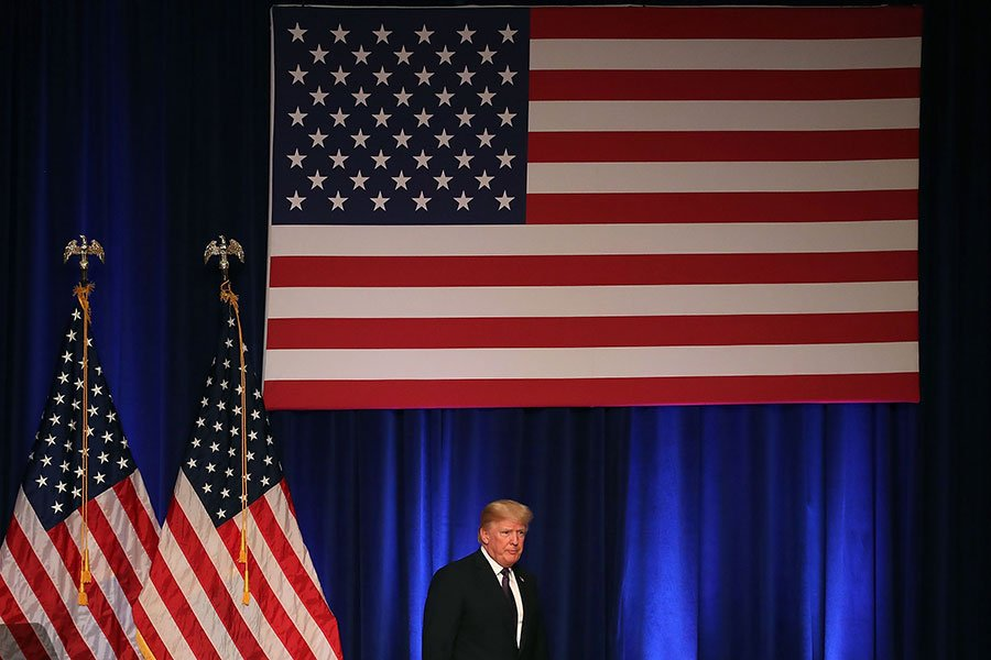 特朗普談到的新國安戰略分四項,將「重要的美國利益」放在最核心位置,分別是:保護美國人、促進美國經濟繁榮、維護世界和平及增強美國在世界的影響力。(Mark Wilson/Getty Images)