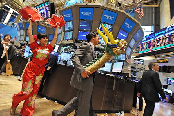 在美國上市的中概股被指華而不實,常常上市後不久股價就迅速下跌。(AFP)