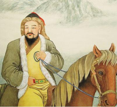 成吉思汗畫像(大紀元資料庫)