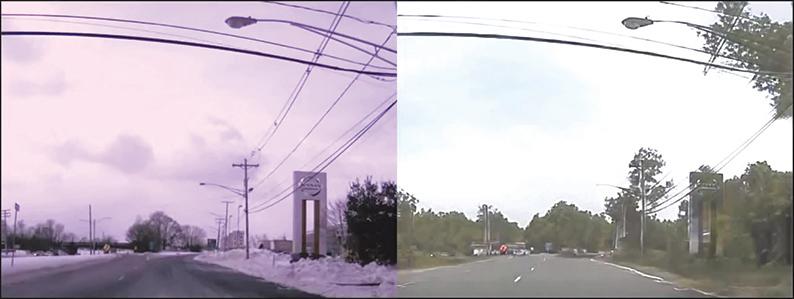 Nvidia的人工智能可以將雪景變成夏季的景色。(Youtube視頻截圖)